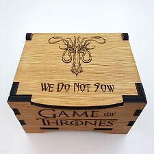 GAME of Thrones House GREYJOY Oak Box con coperchio incernierato