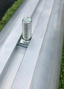 T Bolt fixings for Football Goals - 10x25mm T Bolt for aluminium goals Free P&P