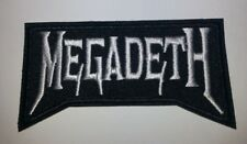 "Megadeath Heavy Metal Parche ~ Bordado Apliques ~ 7.9cm X 1 1 / 2""~ Hierro Sew ~"