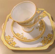 5 Pc Set - Gladstone 2769- Two Tea Cups,Saucers, Cake Plate-English Bone China