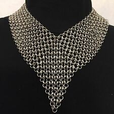 AMRITA SINGH EXQUISITE SILVER CHAIN MESH NECKLACE NWT