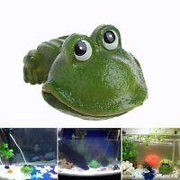 Aquarium Frog Air Bubble Bubbling Stone Oxygen Pump Fish Tank Decor Ornament