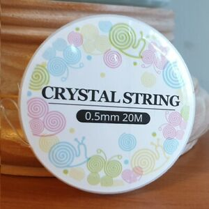 ELASTIC CLEAR CRYSTAL STRING CORD FOR JEWELLERY MAKING 0.5mm 0.7mm 0.8mm &1mm W3