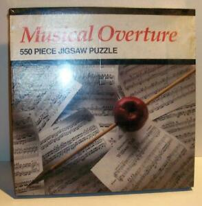 New Sealed 1991 HOYLE Products MUSICAL OVERTURE 550 Pc Jigsaw Puzzle