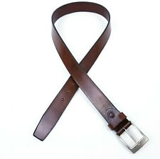 Canali Mens Brown Leather Belt Made In Italy Size 95 / 110 - 38 / 44