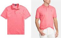 Ralph Lauren Polo Mens Big & Tall Soft-Touch Interlock Shirt  Rose Heathe 3XB