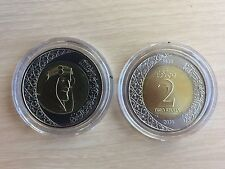 Saudi Arabia 2 Riyals - AH1438, Bi-Metallic Coin, 2016, KM#79, Mint, King Salman