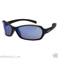 Bolle Safety Glasses - Hurricane - Black Frame - Blue Flash Lens