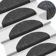vidaXL 15x Self-adhesive Stair Mats Needle Punch 65x21x4cm Dark Grey Rugs