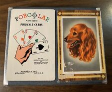 "Vintage 1947 ""Forcolar� Pinochle Cards Cocker Spaniel And Horse"