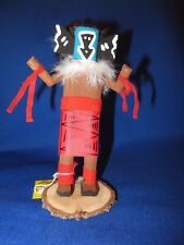 New! Navajo Hand Crafted Mother Crow Kachina Doll Wood Feather Fur Craig Begay