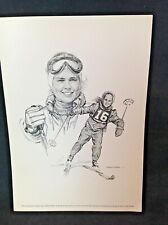 1960s Sports Print SNOW SKIING Picture Robert Riger Drawing PENNY PITOU Olympics