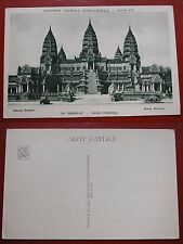 CARTOLINA CARTE POSTALE EXPOSITION COLONIALE INTERNATIONALE PARIS 1931 ANGKORWAT