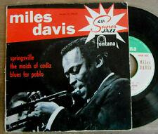 Rare EP MILES DAVIS Springsville JAZZ Fontana BIEM Série SUPER JAZZ