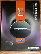 SOL REPUBLIC TRACKS V8 HEADPHONES UNIVERSITY OF ILLINOIS ILLINI