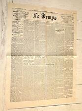 FAC-SIMILE A LA UNE JOURNAL LE TEMPS 31/10 1923  KEMAL TÜRKIYE ALLEMAGNE RUHR