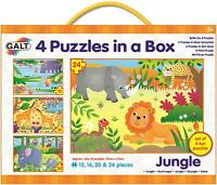 Galt 4 PUZZLE IN A BOX JUNGLE Kids Activity Toy BN