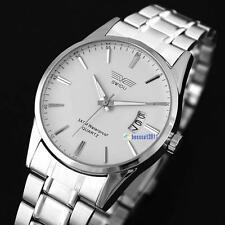 Mens Watch Stainless Steel Band Date Analog Quartz Sport Wrist Watch Army 0Y