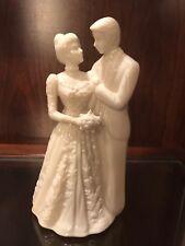 Lenox Ivory Wedding Promises Collection Bride & Groom Cake Topper Figurine~Mint