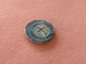Theodosius II (AD 408-450) Æ Nummis  *Cross in Wreath* 1,2g-13mm