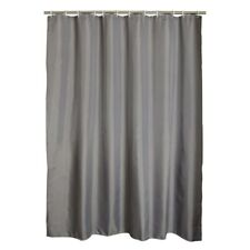 Gray Polyester Bathroom Waterproof Shower Curtain with Plastic Hook Home Textile
