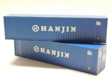 HO Scale - Athearn Walthers Lot of (2) HANJIN 40' Intermodal Shipping Containers