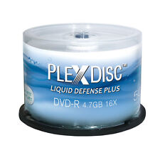 600-Pak PlexDisc 16X =Liquid Defense Plus= Glossy Water-Resist Inkjet Hub DVD-Rs