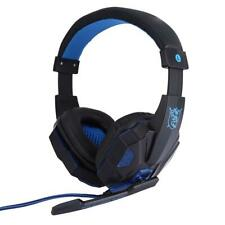 PC Gaming Stereo Headset Kopfhörer + LED mit Mikrofon für Laptop Computer ,blau