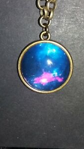 """COSMOS UNIVERSE SPACE PENDANT ON 20"""" ANTIQUE BRONZE CHAIN NEW BAGGED"""