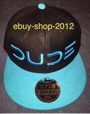 "Dude Wipes Cap New! ""Dude"" Baseball Cap Black/Light Blue.One Size Fits Most!🚨"