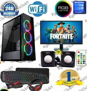 Fast Gaming PC Computer Bundle  Core i5 8GB 1TB Windows 10 2GB GT 710