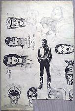 HUGO PRATT - Dessin original / croquis PERIODE ARGENTINE (1949-1962)