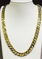 "10k Solid Gold Handmade CURB Link Men's chain/necklace 20"" 90 grams 11MM"