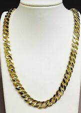 "14k Solid Gold Handmade CURB Link Men's chain/necklace 30"" 150 grams 11MM"