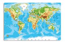 Schreibunterlage Weltkarte Relief Schreibtischunterlage 60 x 40 cm rutschfest