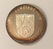 Vtg Military Gemeinde Ramstein-Miesenbach Coat Arms Silver Coin Rathaus-Ramstein