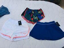 LOT OF 3 Nike Womens Dri-Fit Tennis Golf Running Skirts Shorts SIZE SMALL MEDIUM
