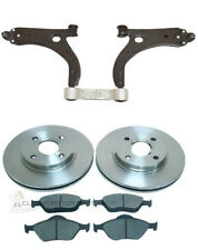 FORD FIESTA MK6 02-07 FRONT 2 WISHBONE ARMS + 2 BRAKE DISCS AND PADS SET NEW