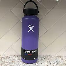 Hydro Flask 40 oz Water Bottle Wide Mouth w/Flex Cap Purple Plum