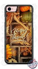 Thanksgiving Many Thanks Fall Design Phone Case Cover for iPhone X 8 Samsung etc