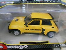 RENAULT 5 Turbo R5 Phase 2 MKII gelb yellow 1983 Bburago 1:24