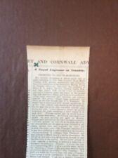 B6a Ephemera 1896 Article O Leary Court Martialled Suggest Fanshawe R E Army