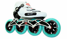 Inline Speed Skate by Trurev. 110mm skate wheels, ceramic bearings. Size 7.5