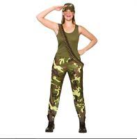 NEW Army Girl,  Adult Ladies Soldier Uniform Fancy Dress Halloween Costume
