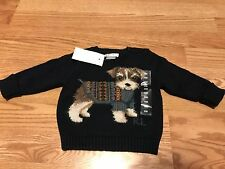 Polo Ralph Lauren RL 67 navy blue big dog sweater classic rare fair isle 9 M nwt
