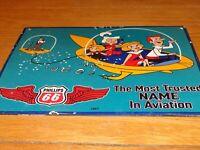 """VINTAGE 1963 THE JETSON'S & PHILLIPS 66 GASOLINE 12.5"""" PORCELAIN METAL OIL SIGN!"""