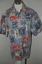 REYN SPOONER 2003 Ltd. Edition Hawaiian Shirt Mele Kalikimaka 2X Haole CHRISTMAS