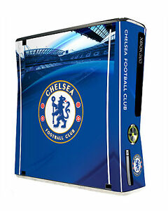Xbox 360 Slim Console Skin Sticker Chelsea Football Club Official Blues Item New