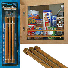 Camco RV Cabinet Bars Bar Hold Food Cans Pantry Cupboard Oak Trailer Camper
