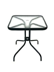 New Square Glass Table, Patio Table, Bistro Table, Balcony Table, 60 cm x 60 cm